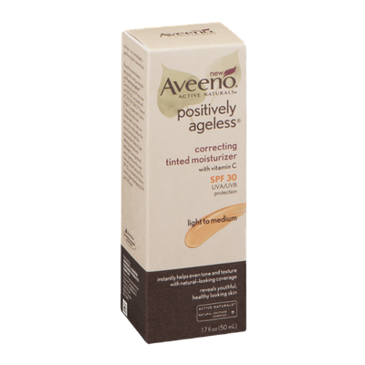Aveeno Active Naturals Positively Ageless Correcting Tinted Moisturizer Light to Medium