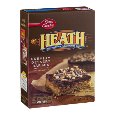 Betty Crocker Heath Milk Chocolate English Toffee Bar Premium Dessert Bar Mix
