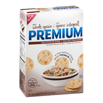 Premium Saltine Crackers with Whole Grain
