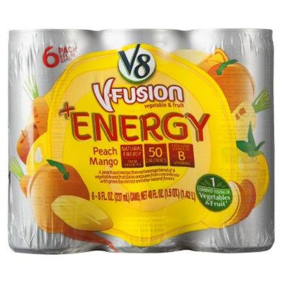 V8 Juice V8 V-Fusion Energy Peach Mango Vegetable & Fruit Juice 8 oz, 6 pk