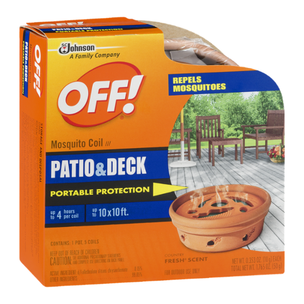 Off! Mosquito Coil Patio & Deck Portable Protection Country Fresh Scent