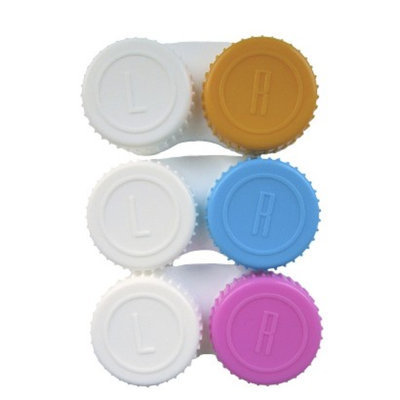 up & up up&up Contact Lens Case - Pink/Yellow/Light Blue (3 Count)
