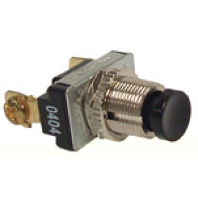 THE HUBBARD COMPANY Hubbell Electrical Products Raco 6426 Push Button Canopy Switch Spst Black For Bells and Buzzers