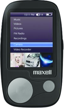 Maxell Corporation Of America 191256 Maxsound MP4 Player 2.4in Screen 8GB Black-Silver 8GB Black-Silver