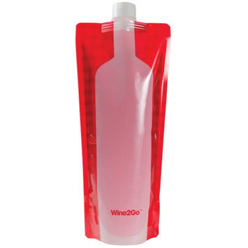 Blue Widget Llc Wine2Go Foldable Portable Wine Bottle- Reusable Great for Picnics, Camping