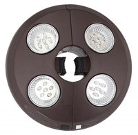 Blue Wave Rechargeable 4-Light Bronze Patio Umbrella Light