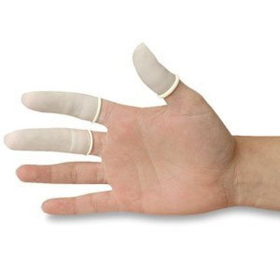 DMI Finger Cots - White - Latex - Large - Box of 144