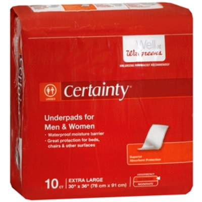 Walgreens Certainty Underpads Extra Large