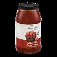 Greenview Kitchen Organic Pasta Sauce Spicy Tomato
