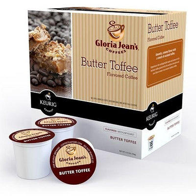 Gloria Jean's Butter Toffee Coffee Keurig K-Cups, 108 Count