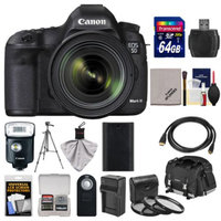 Canon EOS 5D Mark III Digital SLR Camera with EF 24-70mm f/4.0L IS USM Lens with 64GB Card + Case + 320EX LED Flash + Battery & Charger + Tripod + Filter Kit
