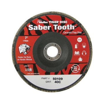 Weiler Weiler - Saber Tooth Ceramic Flap Discs 4-1/2