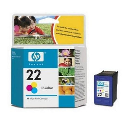 HP 22 Tri-color Original Ink Cartridge - Color - Inkjet