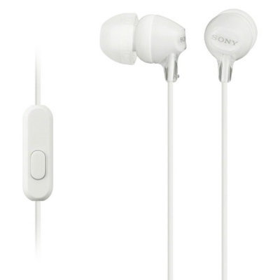 Sony Fashionable In-Ear Headphones - White (MDREX15LP/WHI)