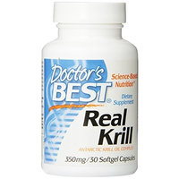 Doctor's Best Real Krill, 350 mg, 30-Count