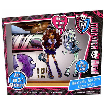 Monster High Spooktacular Wall Decal Fashion Activity