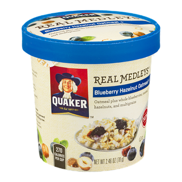 Quaker Real Medleys Blueberry Hazelnut Oatmeal +