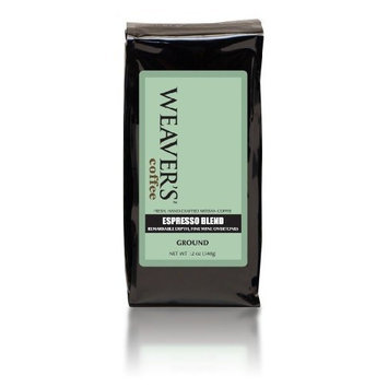 Weaver's Coffee Tea Weaver's Coffee and Tea Espresso Blend, Ground, 12-Ounce Bags (Pack of 2)