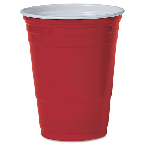 Solo Cups Plastic Party Cold Drink Cup in Red