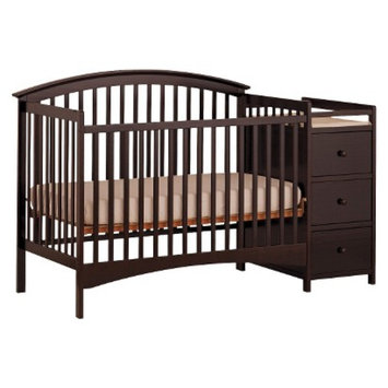 Stork Craft Bradford 4-in-1 Fixed Convertible Crib Changer - Espresso