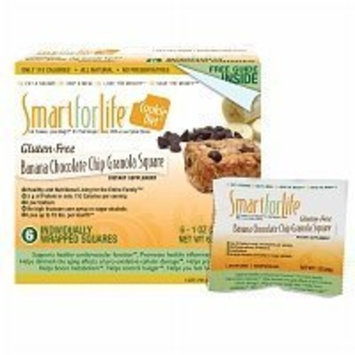 Smart For Life Banana Chocolate Chip Granola Squares, 12-Count