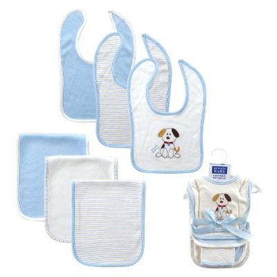 Luvable Friends Newborn Boys' Bib and Burp Set - Dog