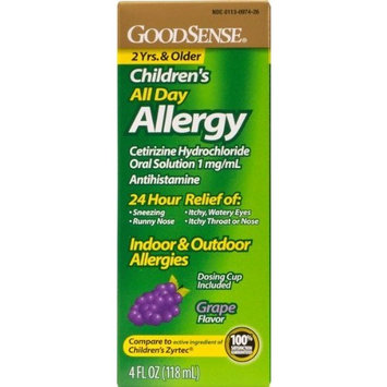 Good Sense Children's All Day Allergy Relief Grape