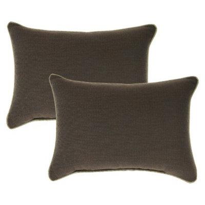 Smith & Hawken 2-Piece Outdoor Lumbar Pillow Set - Espresso