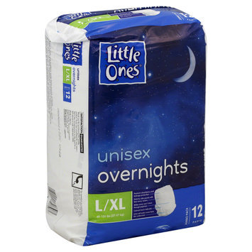 Kmart Corporation Little Ones Training Pants, Overnights, Unisex, L/XL (60 125 lbs), Jumbo Pack, 12 pants - KMART CORPORATION