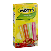Mott's Freezer Bars Apple, Apple Strawberry, Apple White Grape, Fruit Punch - 10 CT