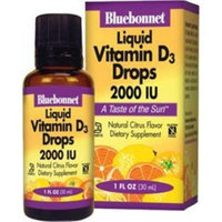 Bluebonnet Liquid Vitamin D3 Drops 2000 IU, Citrus, 1 Ounce