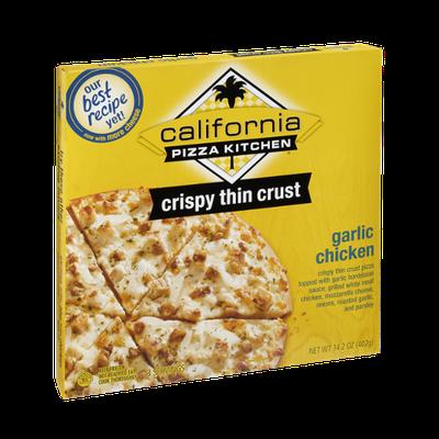 California Pizza Kitchen Crispy Thin Crust Garlic Chicken Pizza