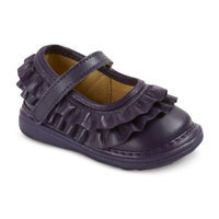 Infant Toddler Girl's Wee Squeak Ruffle Mary Jane Shoes - Purple 11