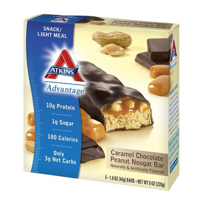 Atkins Advantage Snack Bars Caramel Chocolate Peanut Nougat