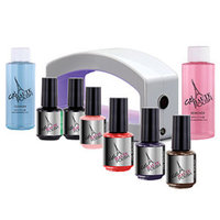 Gel Haute Polish Elite LED Starter Kit with Gel Polish Trio