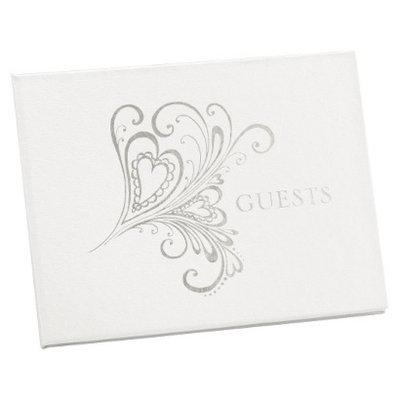Hortense B. Hewitt Heart Paisley Guest Book - Silver