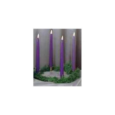 Emkay Candles 05413X Candle Advent Gold Finish Wreath With 4 10 In. Purp
