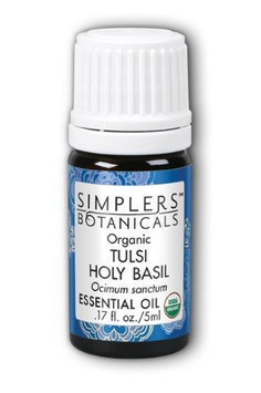 Tulsi Holy Basil Organic Simplers Botanicals 5 ml Oil