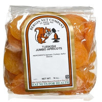Bergin Nut Company Apricots TurkishJumbo, 16-Ounce Bags (Pack of 4)