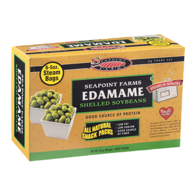 Seapoint Farms Edamame Shelled Soybeans Snack Packs - 6 CT