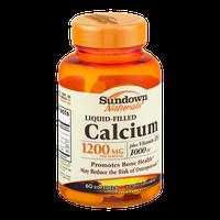 Sundown Naturals Liquid-Filled Calcium 1200mg Softgels - 60 CT