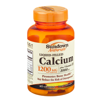 Sundown Naturals Liquid-Filled Calcium 1200mg Softgels - 60 CT