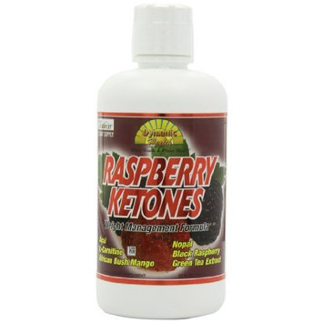 Dynamic Health Juice Blend Liquid Dietary Supplement, Raspberry Ketones, 32 Ounce