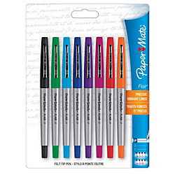 Papermate Paper Mate Ultra Fine Porous Point Pens, 8 Colored Ink Pens