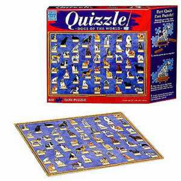 Blue Opal Quizzle Dogs of the World Jigsaw Puzzle Ages 10+