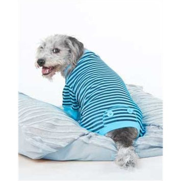 Fashion Pet Blue STRIPED PJ'S, Extra Small