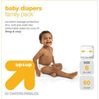up & up Baby Diapers Value Box - Size 6 (60 Count)