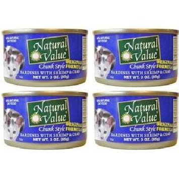 Natural Value BG16247 Natural Value Sardine-Shrimp Cat - 24x3OZ
