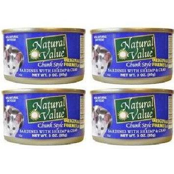 Natural Value BG16247 Natural Value Sardine-Shrimp Cat - 24x3OZ