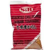 S and B 7 Pepper Spice Mix (Nanami / Schichimi Togarashi) - 1 bag, 10.58 oz